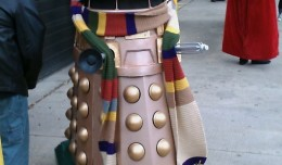 Dalek cosplaying as The Doctor