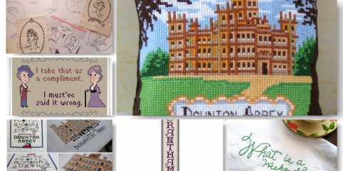 6 Downton Abbey Cross-Stitch and Embroidery Projects